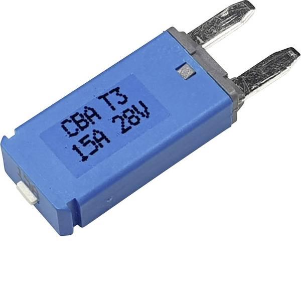Fusibili per auto - Interruttore automatico fusibile piatto standard 15 A Blu Hansor Circuit Breaker Mini, type 3. Manual Reset, 15A CBA3  -