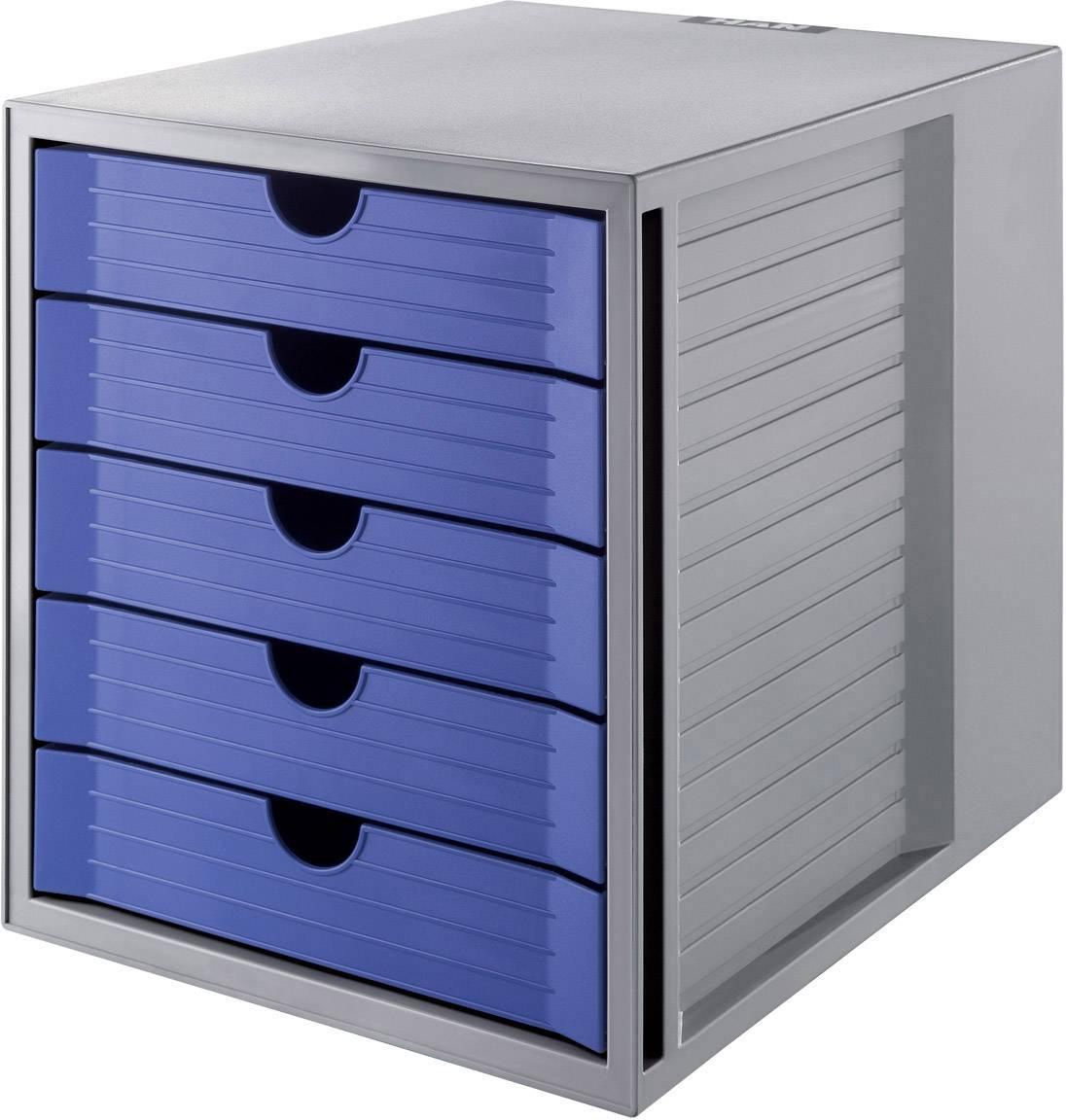 HAN Cassettiera SYSTEMBOX KARMA 14508-16 Grigio DIN A4, DIN C4 Numero cassetti: 5