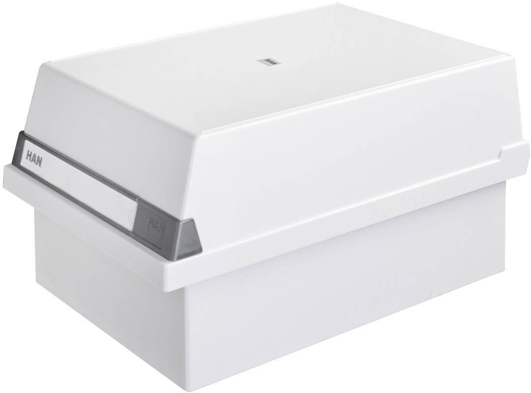 HAN Scatola schedario Grigio luminescente 955-11 1.300 Schede DIN A5 orizzontale