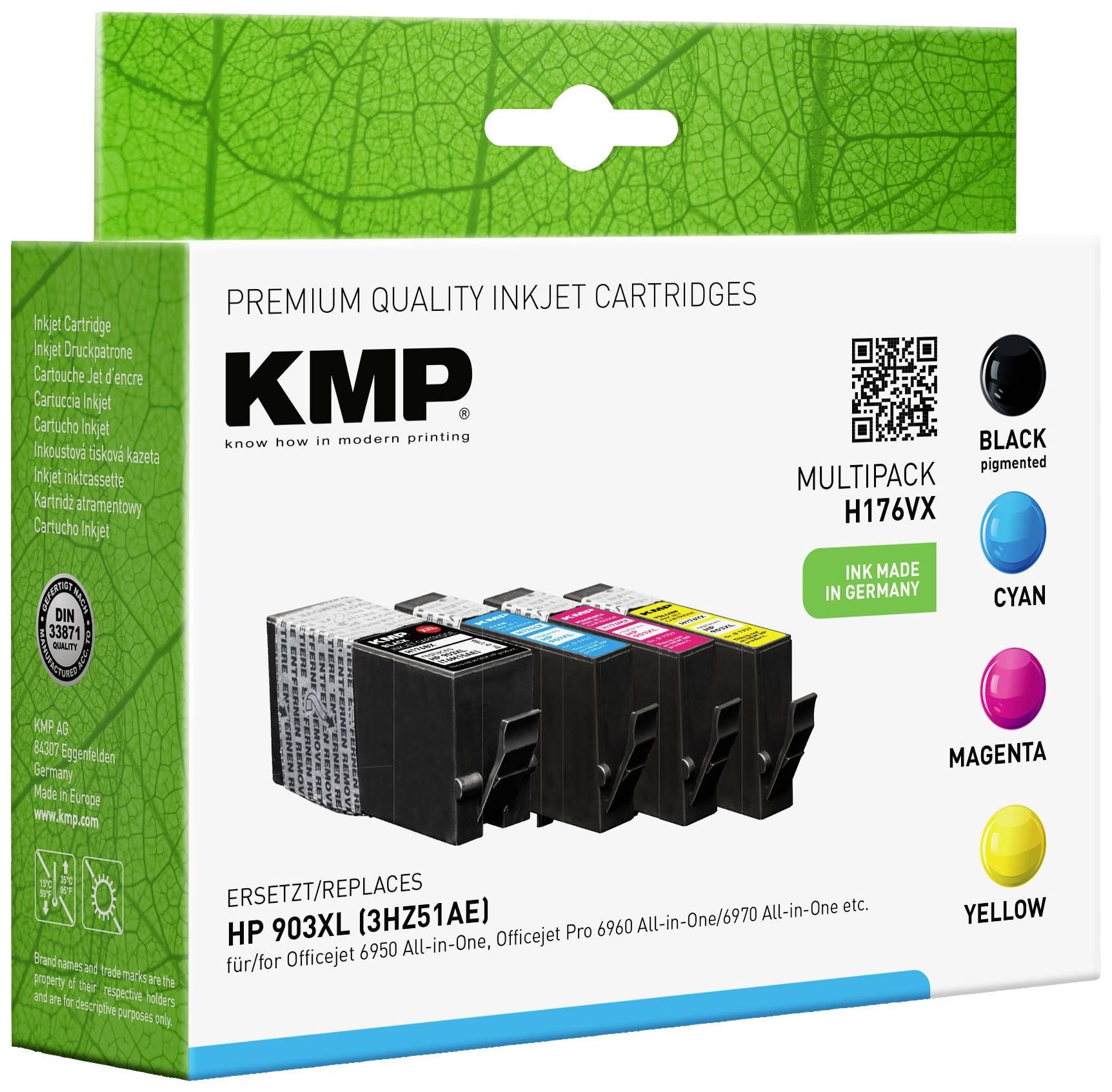 Cartuccia KMP Compatibile sostituisce HP 903XL Imballo multiplo Nero, Ciano, Magenta, Giallo H176VX 1756,0005