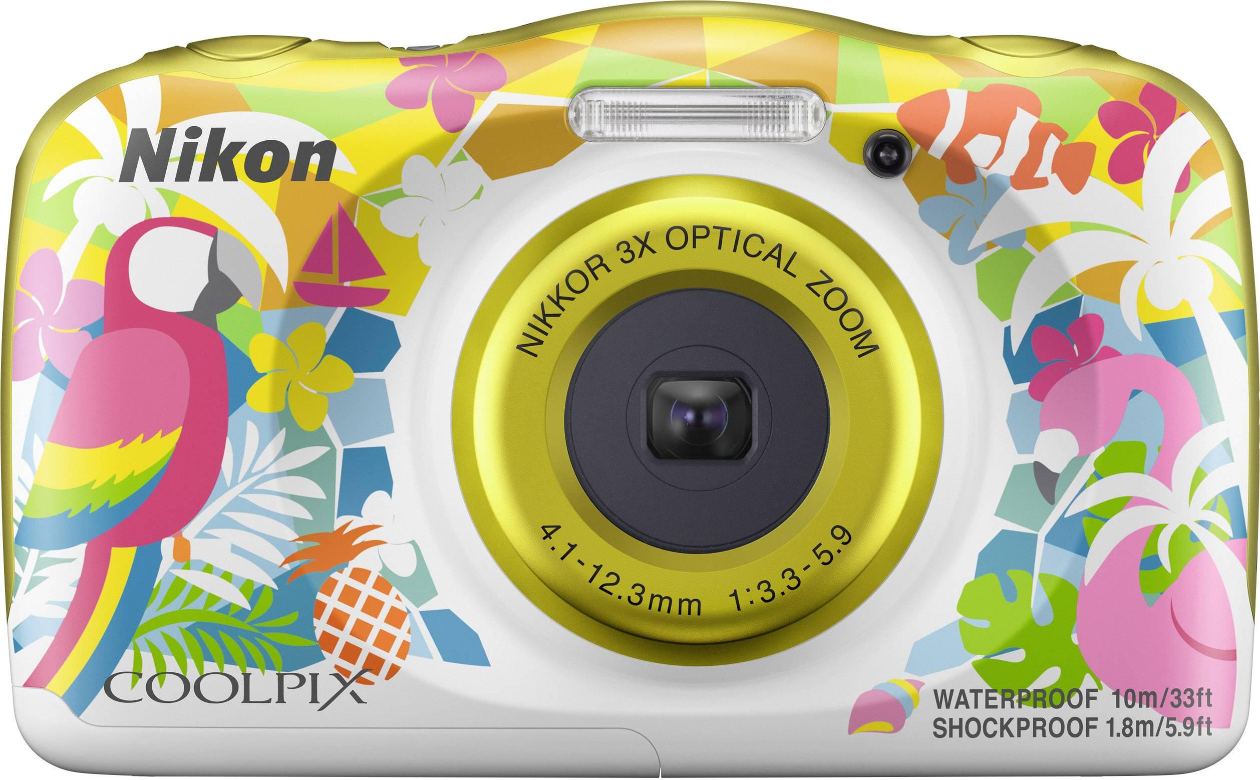 Nikon W150 Hawaii Fotocamera digitale 13.2 MPixel Zoom ottico: 3 x Colorato, Bianco Impermeabile, A prova di polvere,