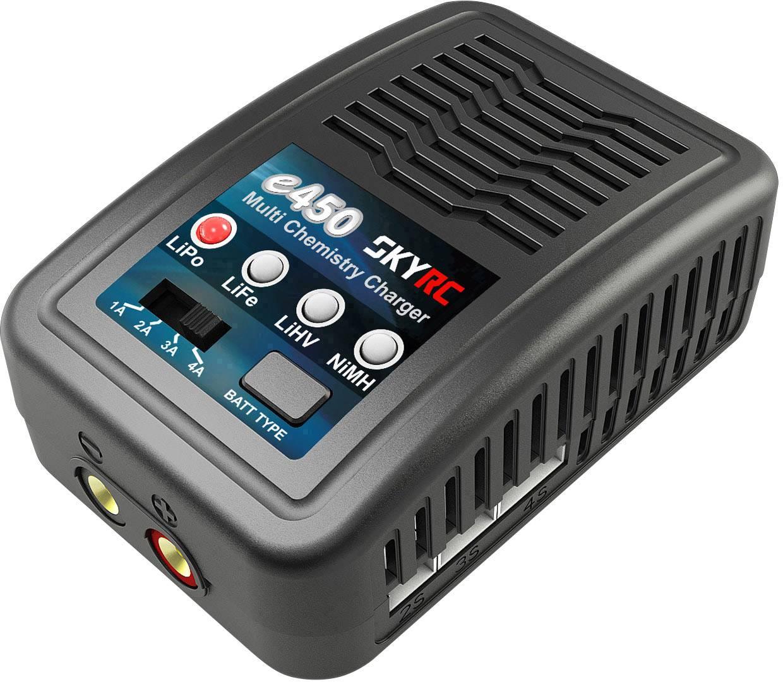 Caricabatterie multifunzione per modellismo 4 A SKYRC e450 AC LiPo, LiFePO, LiHV, NiMH