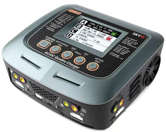 Caricabatterie multifunzione per modellismo 10 A SKYRC Q200 LiPo, LiFePO, LiIon, NiMH, NiCd, Piombo