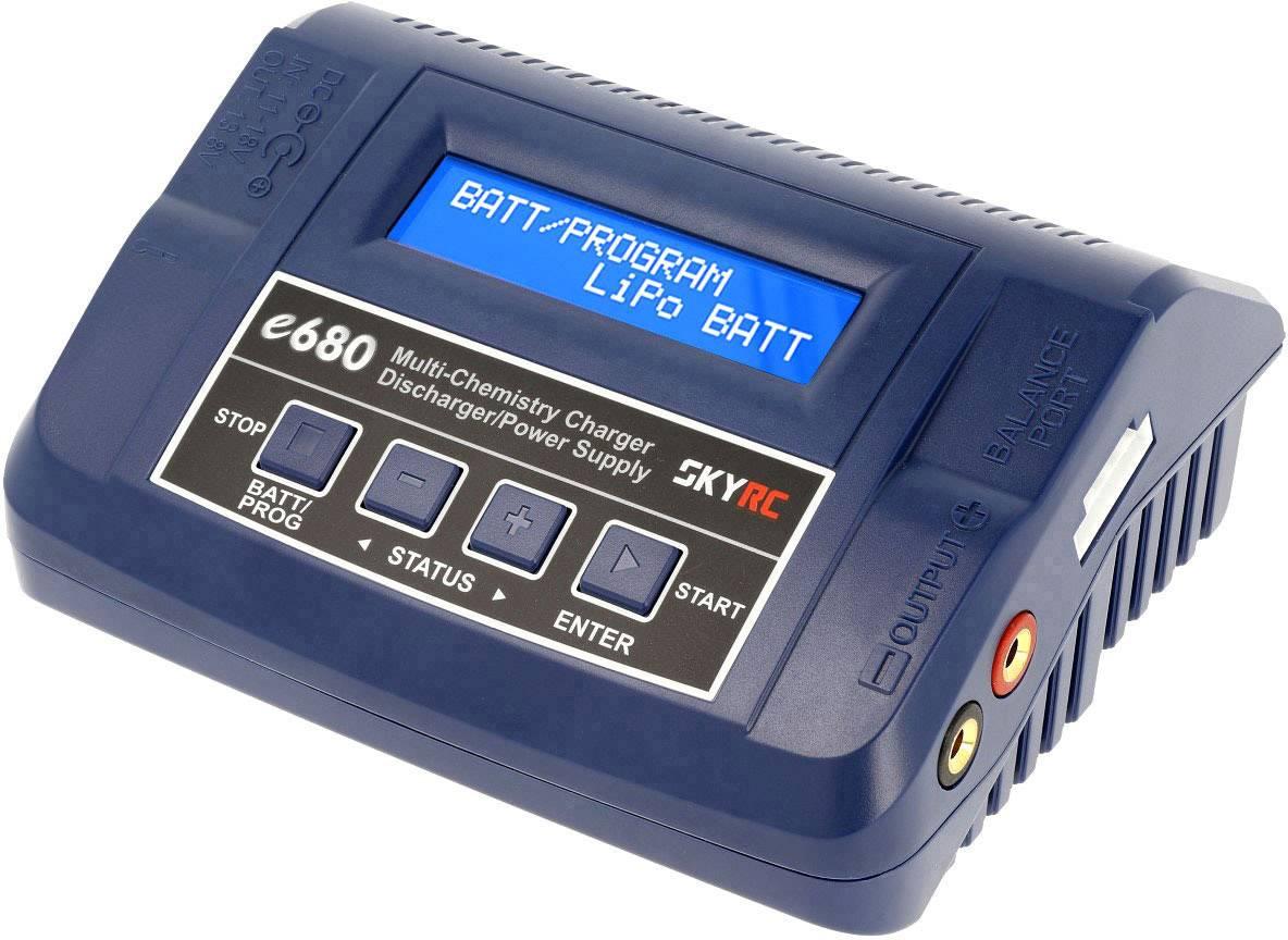 Caricabatterie multifunzione per modellismo 8 A SKYRC e680 LiPo, LiFePO, LiIon, LiHV, NiMH, NiCd, Piombo