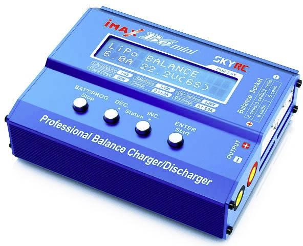 Caricabatterie multifunzione per modellismo 6 A SKYRC B6 Mini LiPo, LiFePO, LiIon, NiMH, NiCd, Piombo