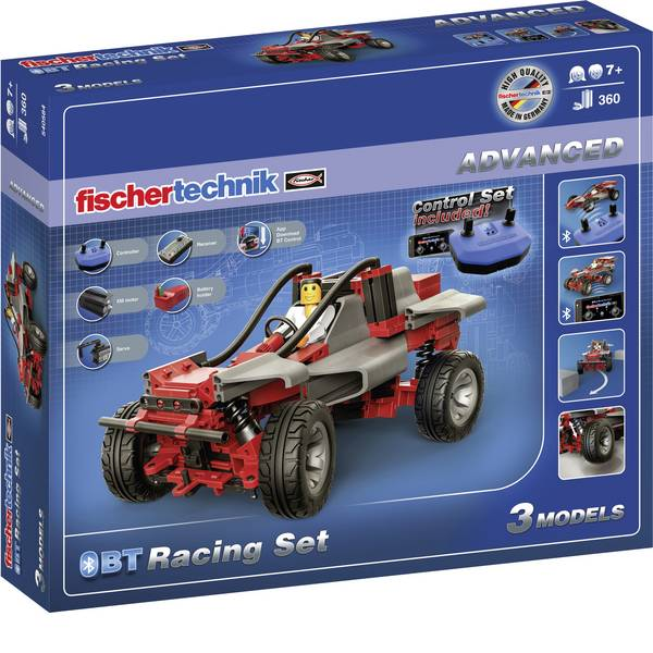 Kit esperimenti e pacchetti di apprendimento - fischertechnik 540584 ADVANCED BT Racing Set Kit esperimenti da 8 anni -