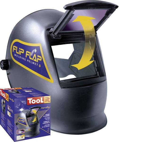 Caschi di protezione - Casco di saldatura Nero Toolit FLIP-FLAP 042513 EN 166, EN 168, EN 175 -