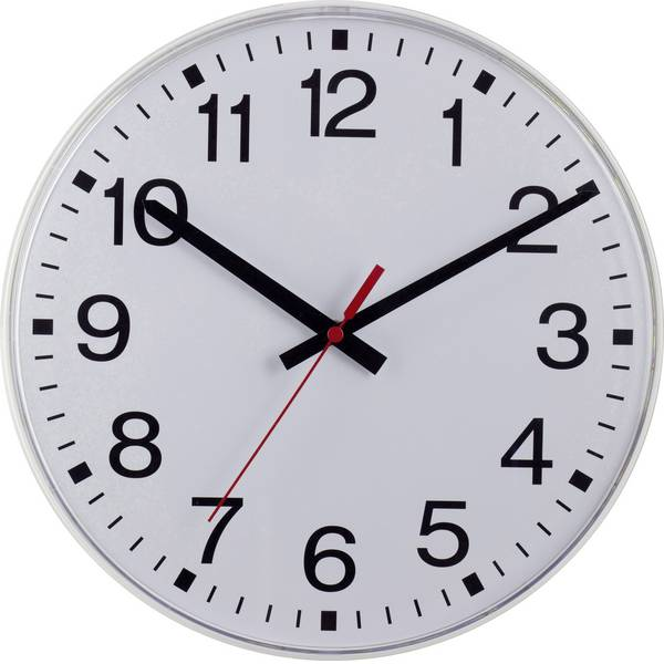 Orologi da parete - EUROTIME 55403-00 Radiocontrollato Orologio radiocontrollato 40 cm x 40 mm x 5 cm Bianco -