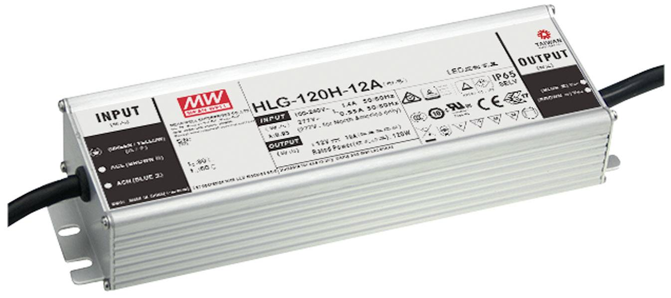 Mean Well HLG-120H-12AB Driver per LED Tensione costante 120 W 5 - 10 A 10.8 - 13.5 V/DC dimmerabile, Funzione dimmer 3
