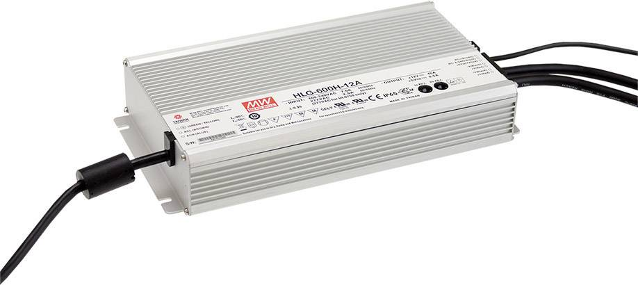 Mean Well HLG-600H-24AB Driver per LED Tensione costante 600 W 12.5 - 25 A 20.4 - 25.2 V/DC dimmerabile, Funzione dimmer