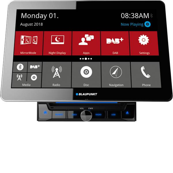 Autoradio e Monitor multimediali - Blaupunkt Rome 990 DAB Moniceiver doppio DIN Sintonizzatore DAB+, Vivavoce Bluetooth®, Collegamento per controllo remoto  -