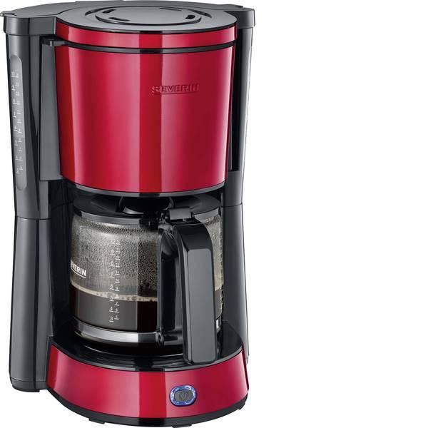 Macchine dal caffè con filtro - Severin KA 4817 Macchina per il caffè Rosso (metallico), Nero Capacità tazze=10 -
