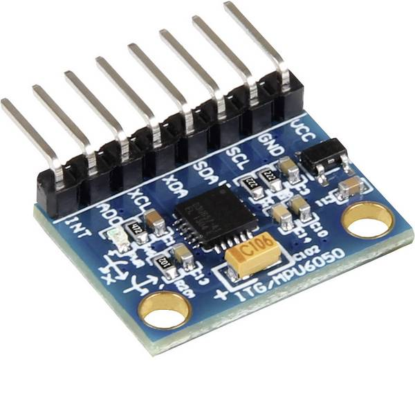 Moduli e schede Breakout per schede di sviluppo - Joy-it MPU6050 Sensore accelerometro 1 pz. Adatto per: micro:bit, Arduino, Raspberry Pi, Rock Pi, Banana Pi, C-Control,  -
