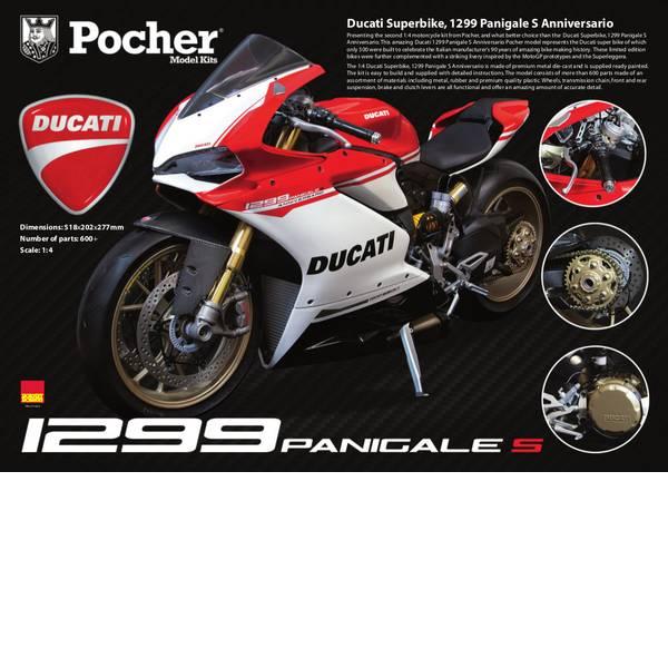 Modellini statici di auto e moto - Pocher Ducati Superbike 1299 Panigale S Anniversario 1:4 Motomodello -