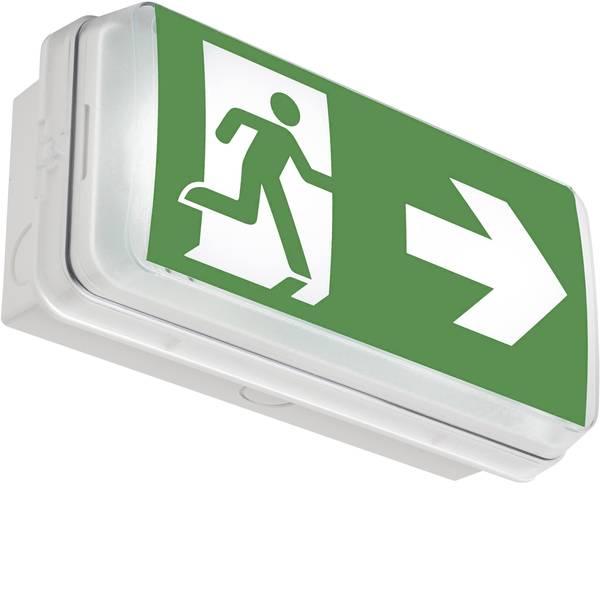 Segnaletica per uscite d`emergenza - ABB 7TCA091160R0583 Indicazione via di fuga illuminata a LED Montaggio a soffitto, Montaggio a parete -
