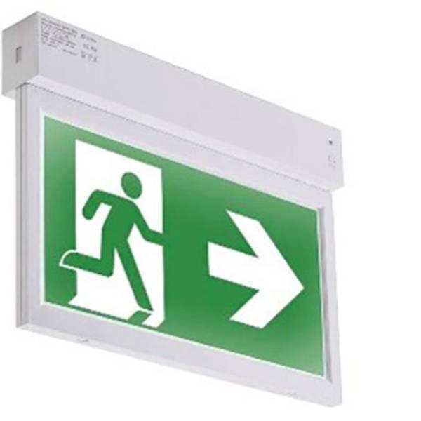 Segnaletica per uscite d`emergenza - ABB 7TCA091720R0192 Indicazione via di fuga illuminata a LED Montaggio a soffitto, Montaggio a parete -