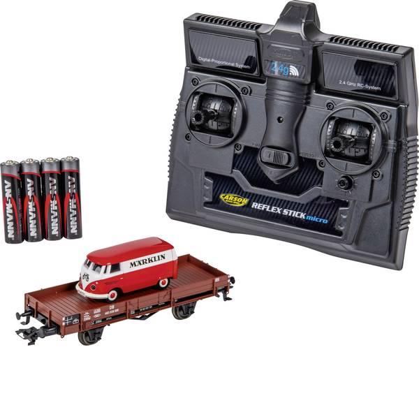 Mini auto radiocomandate elettriche - Carson Modellsport 504132 VW Bus T1 Kastenwagen Märklin mit Niederbordwagen 1:87 Automodello Elettrica Auto stradale  -
