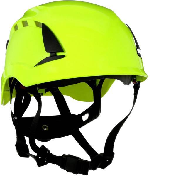Caschi di protezione - Casco di protezione ventilato, con sensore UV Verde Neon 3M SecureFit X5014VE-CE EN 397, EN 12492, EN 50365 -