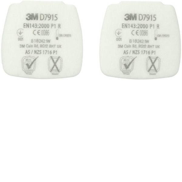 Filtri per protezione delle vie respiratorie - 3M D7915 4 pz. -