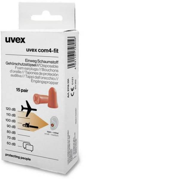 Tappi per la protezione dell`udito - Uvex 2112131 com4-fit Tappi per le orecchie 33 dB usa e getta 15 Paia -
