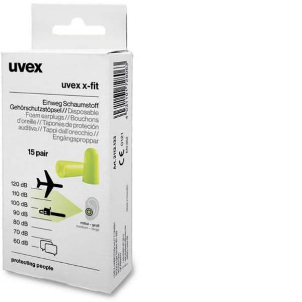 Tappi per la protezione dell`udito - Uvex 2112133 x-fit Tappi per le orecchie 37 dB usa e getta 15 Paia -