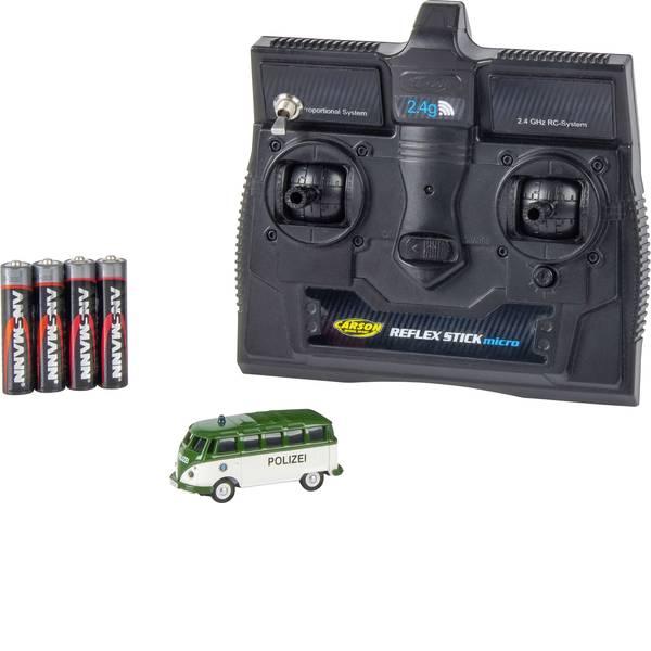 Mini auto radiocomandate elettriche - Carson Modellsport 504121 VW Bus T1 Samba Polizei 1:87 Automodello Elettrica Auto stradale Trazione posteriore incl.  -