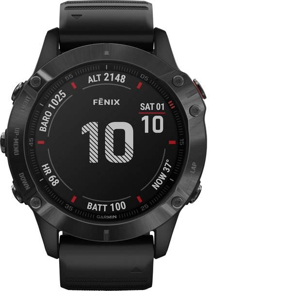 Dispositivi indossabili - Garmin fenix 6 PRO Slate Gray w/Black Band (Glass) Smartwatch Nero -