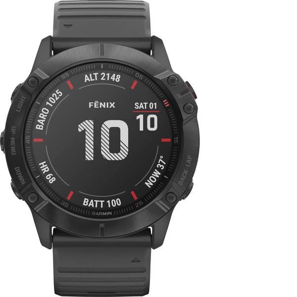 Dispositivi indossabili - Garmin fenix 6X PRO Slate Gray w/Black Band (Glass) Smartwatch Nero -
