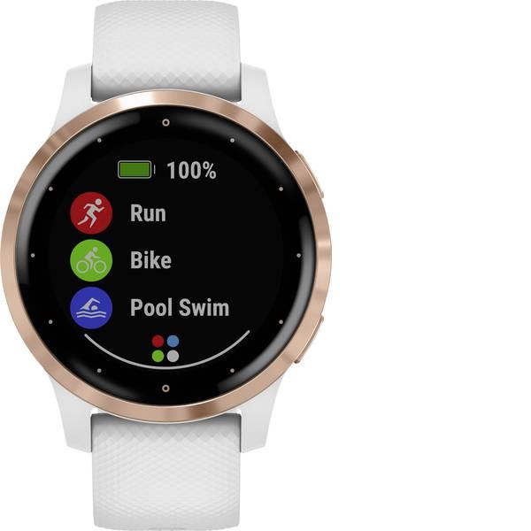 Dispositivi indossabili - Garmin vivoactive 4 Small White/Rosegold Smartwatch Bianco -
