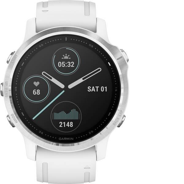 Dispositivi indossabili - Garmin fenix 6S Silver w/White Band (no MAP/Music/Pay) Smartwatch Bianco -