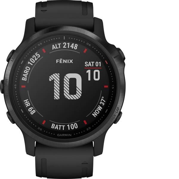 Dispositivi indossabili - Garmin fenix 6S PRO Black w/Black Band (Glass) Smartwatch Nero -