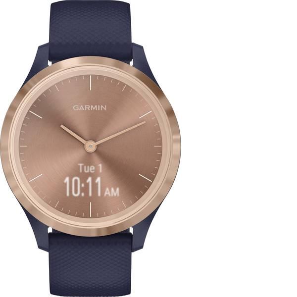 Dispositivi indossabili - Garmin vivomove 3S Sport Blue-Gold, Silicone Smartwatch Blu -