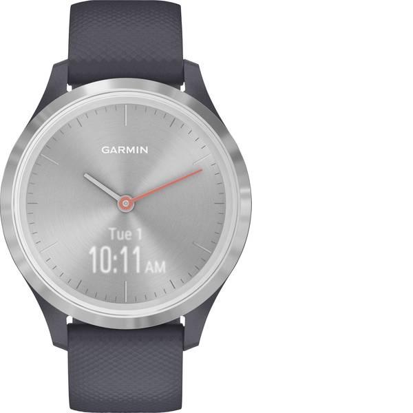 Dispositivi indossabili - Garmin vivomove 3S Sport Silver-Blue, Silicone Smartwatch Blu granito -