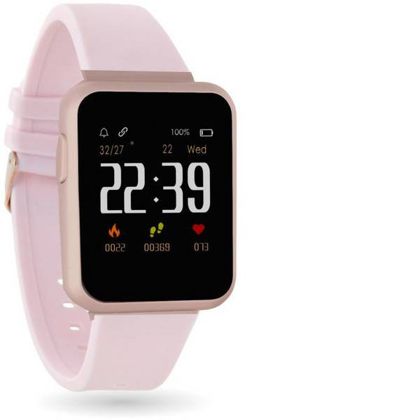Dispositivi indossabili - X-WATCH Keto Sun Reflect Smartwatch Rosa -