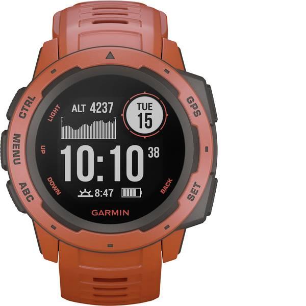 Dispositivi indossabili - Garmin INSTINCT Hellrot/Schiefergrau Orologio sportivo con GPS Rosso chiaro -