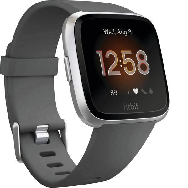 Dispositivi indossabili - FitBit Versa Lite Fitness Tracker Carbone, Argento -
