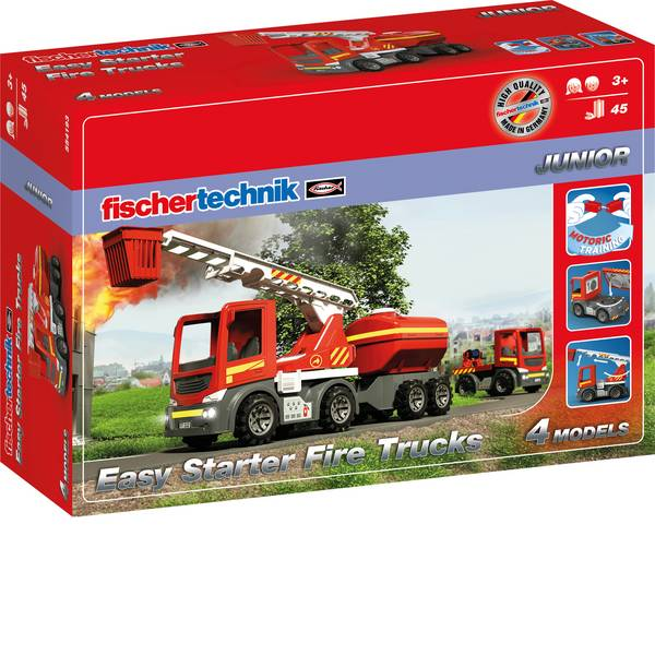 Kit esperimenti e pacchetti di apprendimento - fischertechnik 554193 Easy Starter Fire Trucks Kit esperimenti da 3 anni -