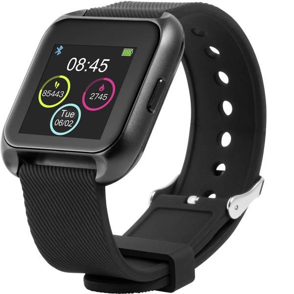 Dispositivi indossabili - Technaxx TX-SW5HR Smartwatch Uni Nero, Blu-Bianco -