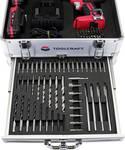 Trapano avvitatore a percussione a batteria 20 V con kit di accessori incl. 2 batterie ricaricabili
