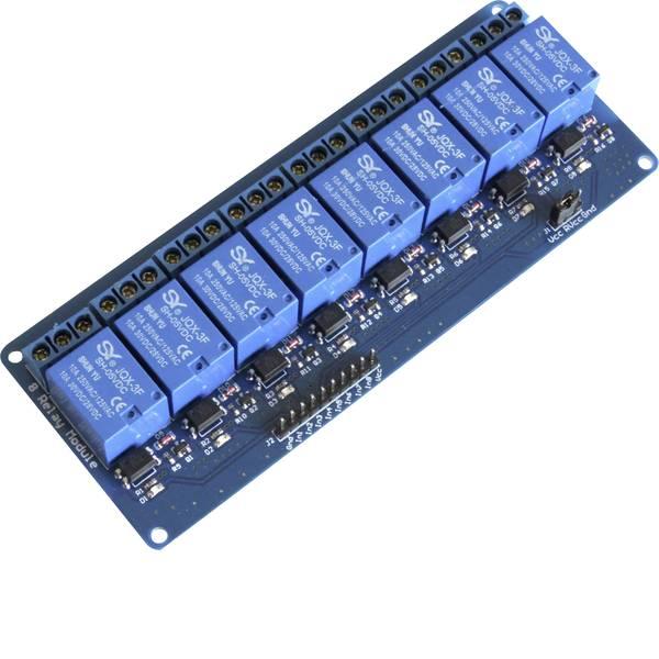 Moduli e schede Breakout per schede di sviluppo - Modulo relè scheda a 8 vie Adatto per (scheda): Arduino, Raspberry Pi, pcDuino -