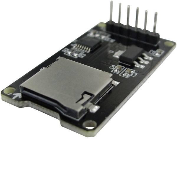 Moduli e schede Breakout per schede di sviluppo - SMTMICROSD Modulo microSD 1 pz. Adatto per: Arduino -