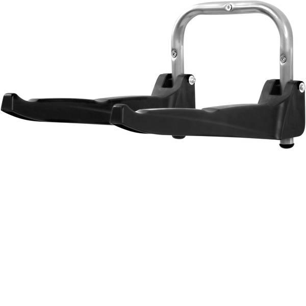 Supporti e cavalletti per biciclette - Supporto a muro Numero posti parcheggio=3 000371 Alluminio, Plastica Argento-Nero -