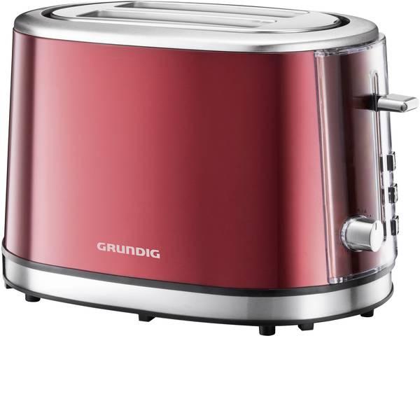 Tostapane - Grundig TA6330 Tostapane Con griglia scaldabriosche Rosso (metallico), Acciaio -