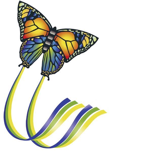 Aquiloni - Aquilone statico Monofilo Günther Flugspiele Butterfly Larghezza estensione 950 mm Intensità forza del vento 4 - 6 bft -