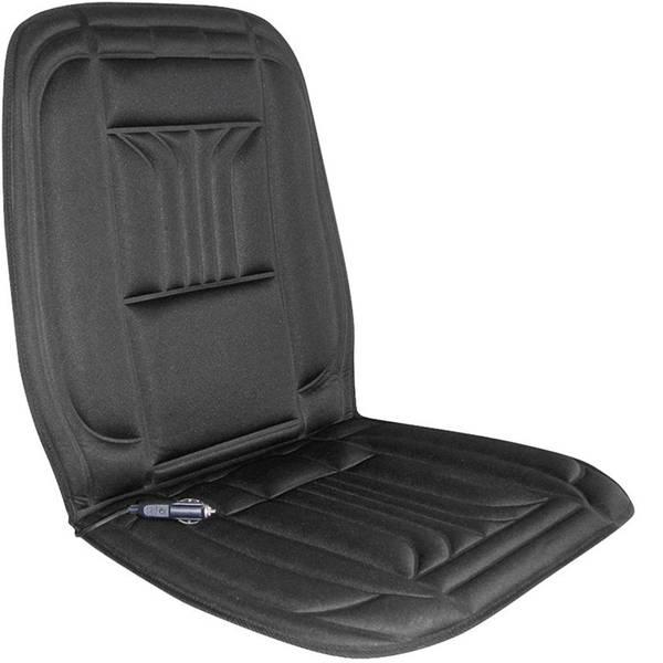 Coprisedili riscaldati e rinfrescanti per auto - Rivestimento riscaldante per sedile APA 12 V 2 livelli di calore, Supporto lombare Nero -