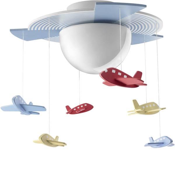 Lampade da soffitto per bambini - Plafoniera aeromobili Lampada a risparmio energetico E27 15 W Philips Lighting Avigo Colorato -
