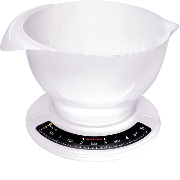Bilance da cucina - Soehnle Culina Pro Bilancia da cucina analogica, con contenitore di misurazione Portata max.=5 kg Bianco -