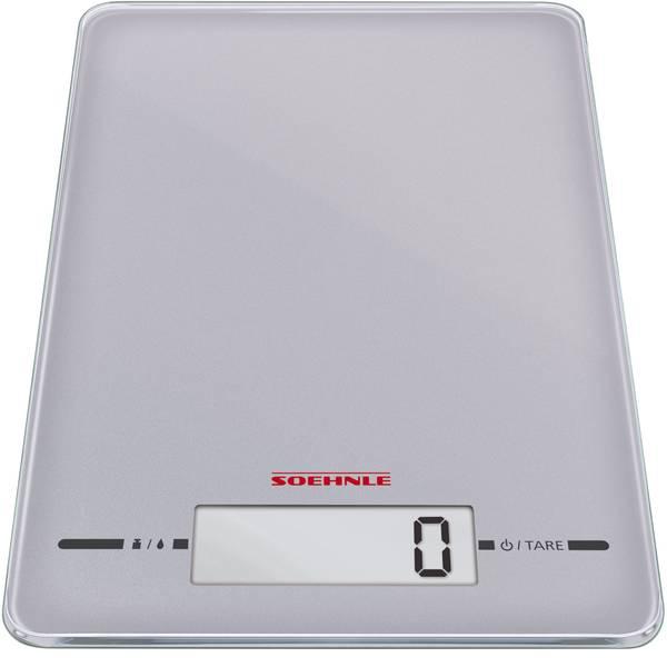 Bilance da cucina - Soehnle Page Evolution silver Bilancia da cucina digitale Portata max.=5 kg Argento -