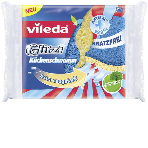Pulizia della cucina e accessori - Spugne da cucina Vileda Glitzi confezione da 2 pz -