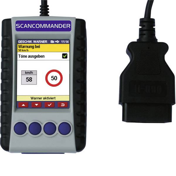 Tester, misuratori e scanner OBD - Diamex Strumento diagnostico OBD II ScanCommander 7207 -